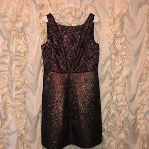 Adrianna Papell Metallic Pink Dress Size 12 NWT